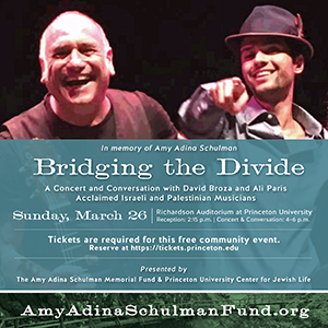 Bridging the Divide with David Broza and Ali Paris on March 26, 2017