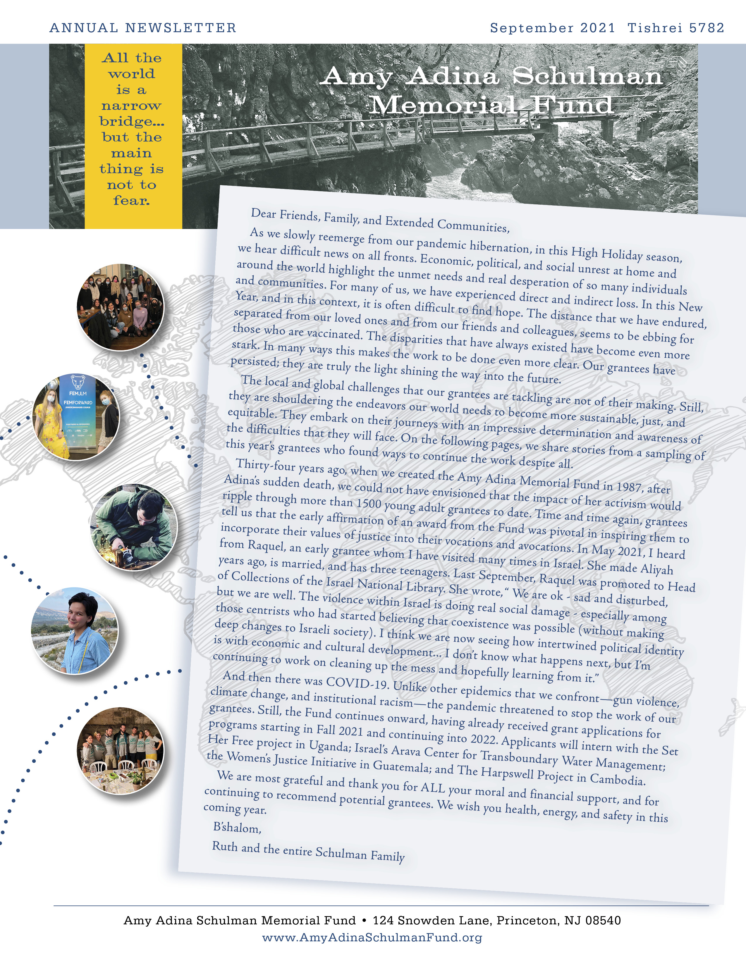 Cover Image of the current 2021 Newsletter