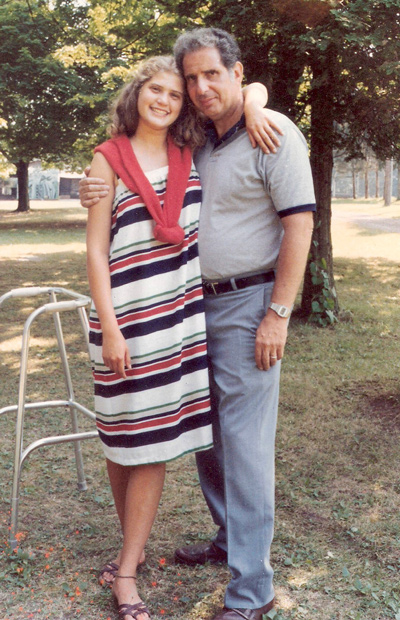 Amy Adina with her father Mel.