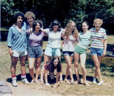 Amy Adina with camp friends.